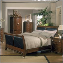 Wood Sleigh Bed