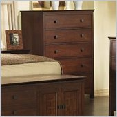 Somerton Enchantment 5 Drawer Chest in Rich Cappuccino Finish