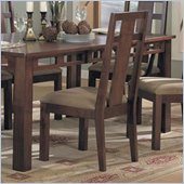 Somerton Enchantment Fabric Dining Side Chair in Rich Cappuccino Finish