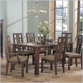 Somerton Enchantment 7 Piece Dining Set in Rich Cappuccino