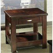 Somerton Serenity End Table in Burgundy