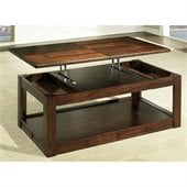 Somerton Serenity Lift Top Rectanglular Coffee Table in Burgundy