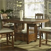 Somerton Craftsman Dining Table in Warm Brown