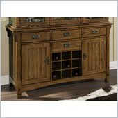 Somerton Craftsman Buffet in Warm Brown