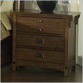 Somerton Craftsman Nightstand in Warm Brown