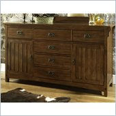Somerton Craftsman Dresser in Warm Brown