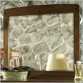 Somerton Craftsman Mirror in Warm Brown 