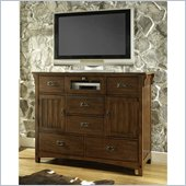 Somerton Craftsman 6 Drawer Mule Chest in Warm Brown Finish