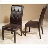 Somerton Manhattan Modern Art Brown Bicast Leather Arm Chair in Coffee Brown Stain