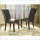 Somerton Brown Bicast Leather Wide Back Side Chair