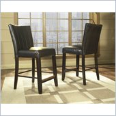 Somerton Brown Bicast Leather Wide Back Bar Stool