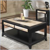 Somerton Insignia Cocktail Table in Maple and Merlot Finish
