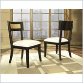 Somerton Insignia Side Chair in Maple and Merlot Finish