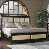 Somerton Insignia Panel Bed in Maple and Merlot Finish