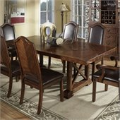 Somerton Barrington Trestle Dining Table in Pecan