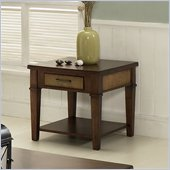 Somerton Mesa End Table in Medium Brown