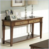 Somerton Mesa Sofa Table in Medium Brown