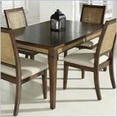Somerton Mesa Leg Dining Table in Medium Brown