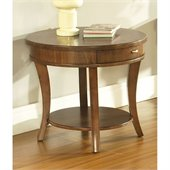 Somerton Gatsby End Table in Medium Brown