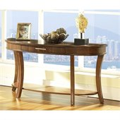 Somerton Gatsby Sofa Table in Medium Brown