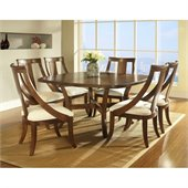Somerton Gatsby Dining Table in Medium Brown