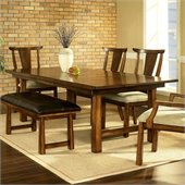 Somerton Dakota Dining Table in Rich Brown