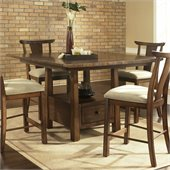 Somerton Dakota Counter Height Table in Rich Brown