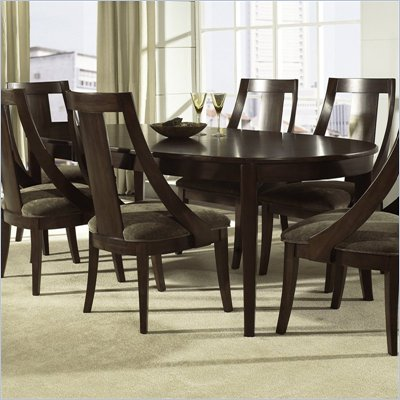 Somerton Cirque Oval Leaf Casual Dining Table in Merlot Finish
