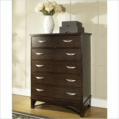 Somerton Cirque 5 Drawer Chest in Merlot Finish