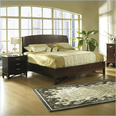 Somerton Cirque Wood Panel Bed 4 Piece Bedroom Set in Merlot