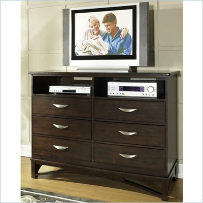 Somerton Cirque TV Chest in Merlot