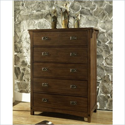 Somerton Craftsman 5 Drawer Chest in Warm Blonde Finish