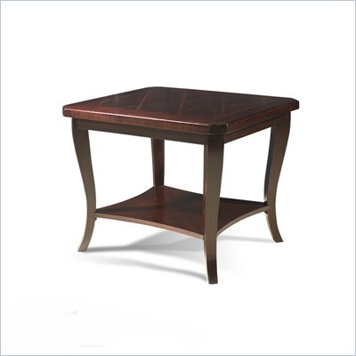 Somerton Crossroads End Table in Deep Burnished Brown
