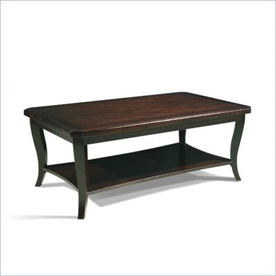 Somerton Crossroads Rectangular Wood Cocktail Table in Deep Burnished Brown