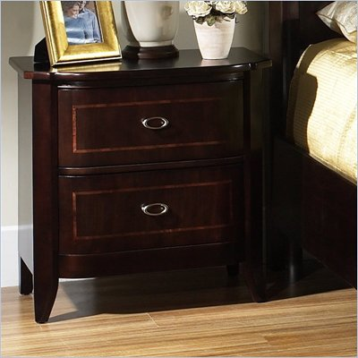 Somerton Crossroads 2 Drawer Night Stand in Deep Burnished Brown