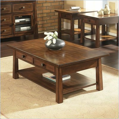 Somerton Dakota Cocktail Table in Rich Brown