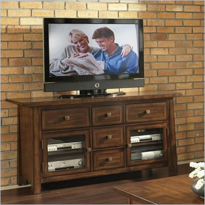 Somerton Dakota TV Console in Rich Brown
