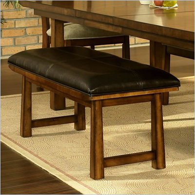 Somerton Dakota Bench in Rich Brown