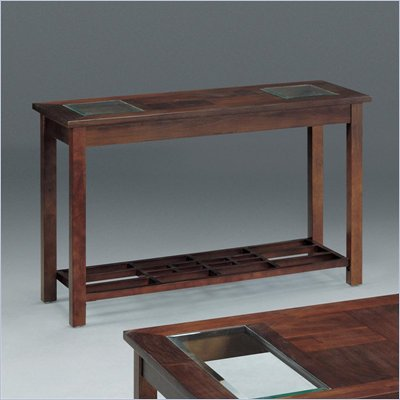 Somerton Enchantment Sofa Table in Rich Cappuccino and Clear Glass