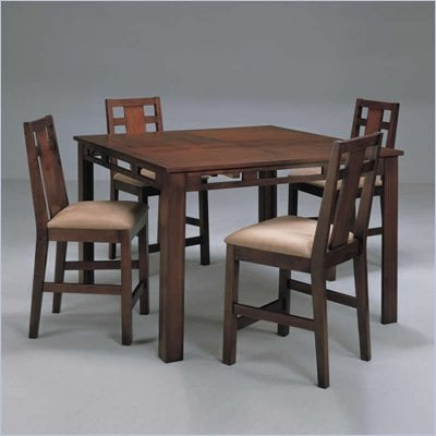 Somerton Enchantment 5 Piece Gathering Table Set in Rich Cappuccino