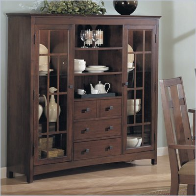 Somerton Enchantment Display Case Curio Cabinet in Rich Cappuccino