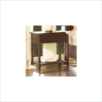 Somerton Enchantment 1 Drawer Night Stand in Rich Cappuccino