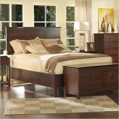 Somerton Enchantment Panel Bed in Rich Cappuccino Finish