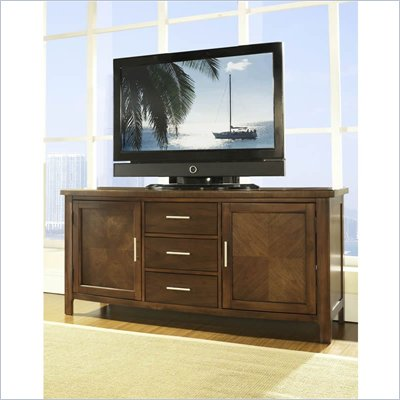 Somerton Gatsby TV Console in Medium Brown