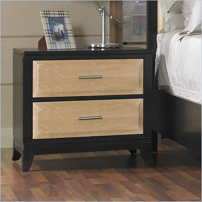 Somerton Insignia Nightstand in Maple and Merlot Finish