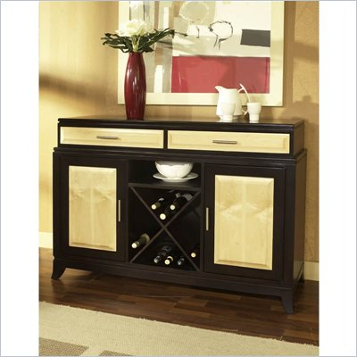 Somerton Insignia Server in Maple and Merlot Finish