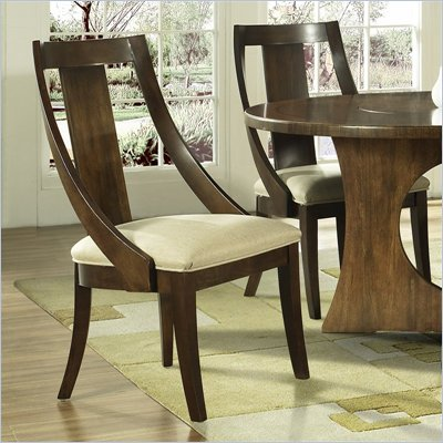 Somerton Manhattan Slipper Side Chair in Brown Walnut