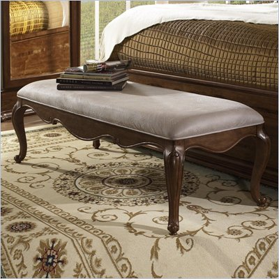 Somerton Melbourne Traditional Bedroom Bench in Warm Brown