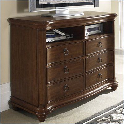 Somerton Melbourne Traditional Entertainment Chest in Warm Brown