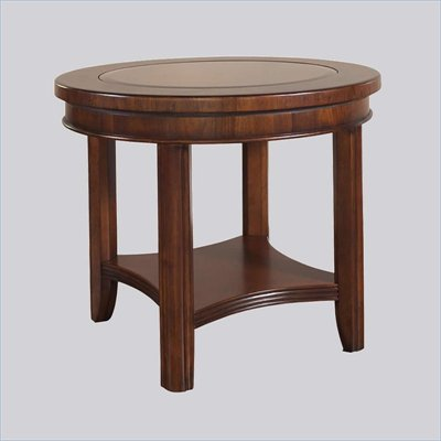 Somerton Round Rhythm End Table in Burnished Rum